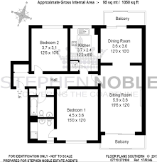 Estate Agents Floor Plans Hinton Wood 17 Grove Road Bournemouth Bh1 2 Bed Apartment 339 950