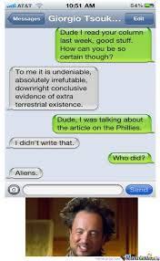 Giorgio Tsoukalos Memes - texting giorgio tsoukalos by unparalleled meme center