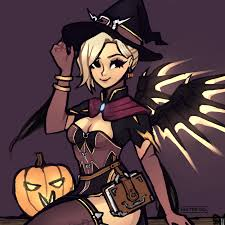 halloween mercy background overwatch s halloween update brings frightful fun and spooky