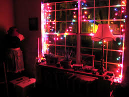 outstanding decorating with christmas lights in bedroom including