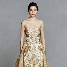 gold wedding dress gold wedding dresses 17 dazzling designs hitched co uk