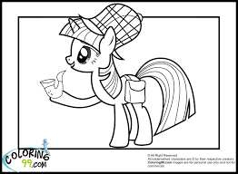 my little pony twilight sparkle coloring pages minister coloring