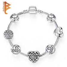 european bracelet designs images European style antique silver heart charms bracelet for women jpg