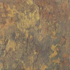 Peel And Stick Floor Tile Reviews Trafficmaster Ash 12 In X 12 In Peel And Stick Blended Slate