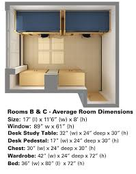 Student Desk Dimensions by Lee Hall