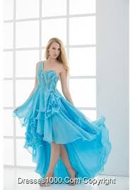 Light Blue High Low Dress High Low Prom Dresses Hi Lo Prom Dress Front Short Back Long Dress