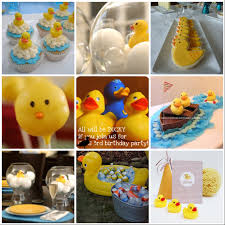 featured client rubber ducky party theme at home with natalie