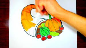 thanksgiving drawings cornucopia drawing for kids children u0027s thanksgiving drawings