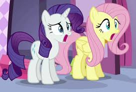 Jaw Drop Meme - rarity and fluttershy are shocked my little pony friendship is