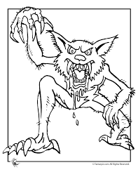werewolf pictures free print kids werewolf coloring sheets