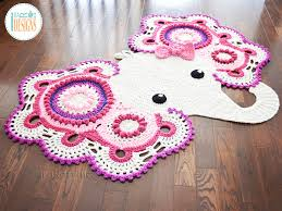 Kids Animal Rugs Josefina And Jeffery Elephant Rug Pdf Crochet Pattern Irarott Inc