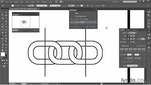 pattern drawing illustrator creating linking chains pattern brush