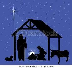 christmas manger illustration of the traditional christmas nativity