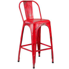 Red Bar Stools With Backs Furniture Distressed Bar Stool With X Back Bistro Style Awesome