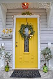 paint house numbers the same as door color love the yellow