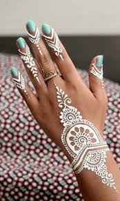 beautiful white henna tattoo u2026 body pinterest white henna