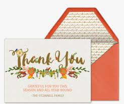 thanksgiving thank you free invitations