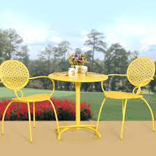 Yellow Bistro Chairs Outdoor Bistro Patio Sets Top 10 Bistro Sets For Outdoor Small
