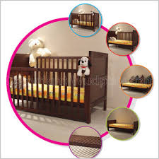 Designer Convertible Cribs Arum Crib Baby Cot With Sliding Rail Best Deal Combo Mtr