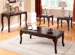Dark Cherry Sofa Table by Buy Furniture Of America Cm4914 3pk Bonaparte 3 Piece Table Set