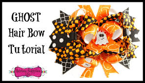 how to make a ghost hair bow halloween hair accessories