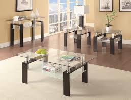 Glass And Wood Coffee Table by Coaster Occasional Group 702280 Tempered Glass Coffee Table
