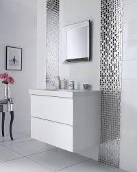 bathroom tile ideas black mixed white round glass mosaic tiles