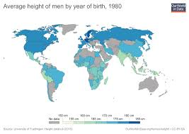 netherlands height map human height our world in data