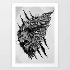 50 amazing art prints of lions for your walls