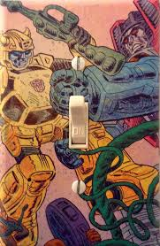 transfomers bumblebee and starscream comic light switch cover