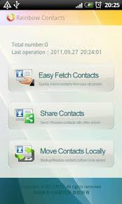 backup contacts apk rainbow contacts apk for android