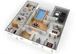 inspiring single story 5 bedroom house floor plans 3d cubtab 5