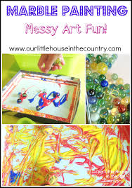Perfect Little House Marble Painting U2013 More Rainy Day Messy Art Fun Our Little House