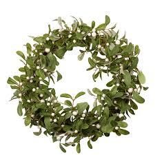 christmas mistletoe christmas white mistletoe wreath tutti decor ltd