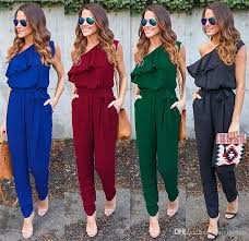 s one jumpsuit 2018 one shoulder ruffles jumpsuits for 2017 fashion