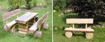 handmade garden benches adding rustic vibe to backyard designs