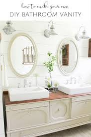 how to transform a vintage buffet into a diy bathroom vanity everything you need to know about turning an old furniture piece into the diy bathroom vanity