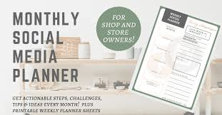social media planner are you ready for a 2018 social media challenge savvy shopkeeper