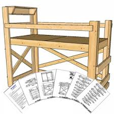 Free Plans For Twin Loft Bed by Free General Dimension Drawing Op Loftbed