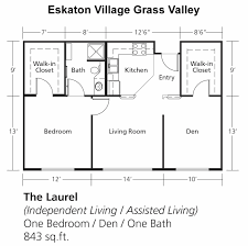 Den Floor Plan Senior Independent Assisted Living U0026 Memory Care In Grass Valley