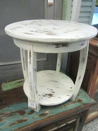 distressed white side table rustic white coffee table interlearn info