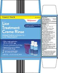 walgreen co lice treatment creme rinse drug facts