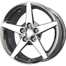 chrome corvette wheels chrome c6 corvette replica wheels set of 4 at corvette