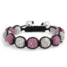 crystal pink bracelet images Shamballa inspired bracelet fuchsia pink crystal beads 12mm jpg