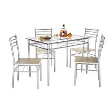 Glass Dining Room  Kitchen Tables Shop The Best Deals For Sep - Glass dining room table set