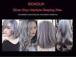 shaping long hair bioaqua brand hairstyle shaping wax cream silver grey quick dry