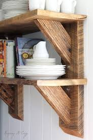 Wood Shelving Brackets by Keeping It Cozy Reclaimed Wood Kitchen Shelves