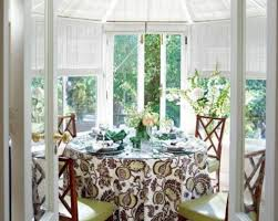 round table with nice dining room tablecloths informal and nice