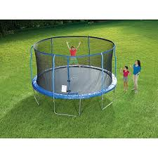 stats 14 foot trampoline with steel flex enclosure toys