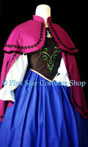 Anna Frozen Costume Anna Frozen Halloween Costume Plus Size And Super Size Halloween